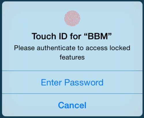 BBM updated with Apple Touch ID, Android Wear support