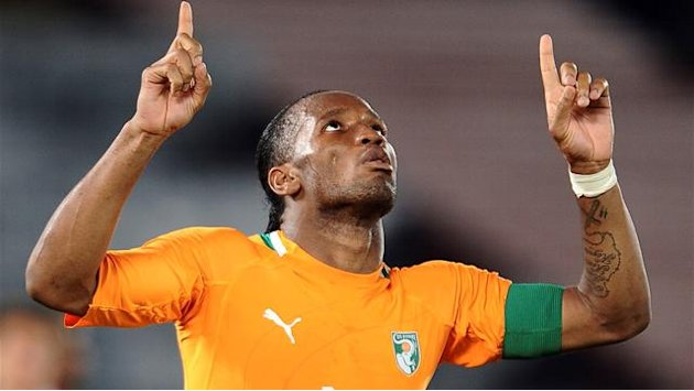 African Cup of Nations - Ivory Coast's Drogba plays down favourites tag