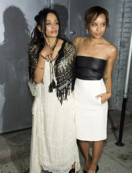 Lisa Bonet, left and her daughter Zoe Kravitz attend CHANEL&#39;s The Little Black Jacket Exhibition on Wednesday, June 6, 2012, in New York. (Photo by Charles Sykes/Invision/AP