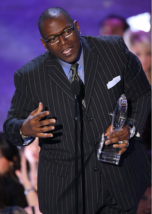 Randy Jackson of American Idol accepts the win for Favorite Reality Show at The 33rd Annual People's Choice Awards.