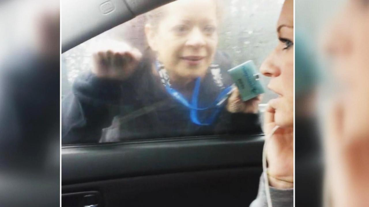 California road rage captured on cellphone camera