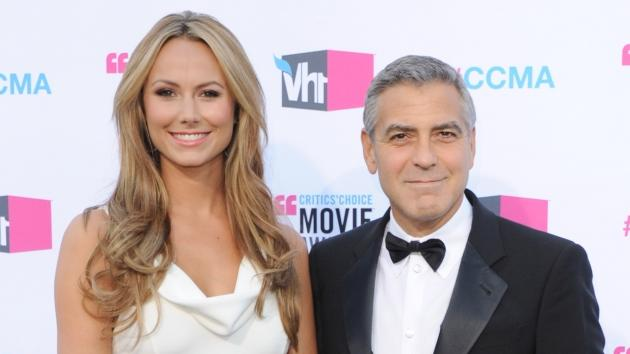 Stacy Keibler and George Clooney arrive at the 17th Annual Critics Choice Movie Awards at The Hollywood Palladium on January 12, 2012 in Los Angeles -- Getty Images