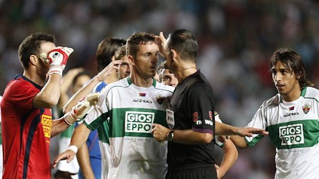 referee Cesar Muniz Fernandez probably got it wrong when he ruled Elche midfielder Carlos Sanchez had obstructed Pepe