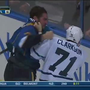 David Clarkson and Roman Polak scrap