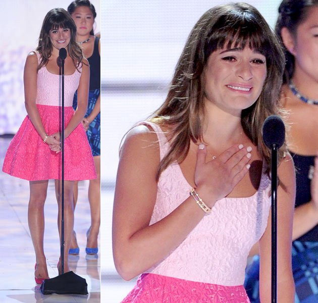 Lea Michele zeigte sich bei den Teen Choice Awards 2013 gerüht (Bilder: Getty Images)