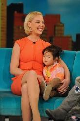 Katherine Heigl with daughter Naleigh on 'The View,' New York City, January 23, 2012 -- ABC