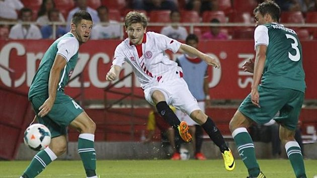 Chelsea loanee Marko Marin scores cracking brace in Sevillas win over Slask Wroclaw