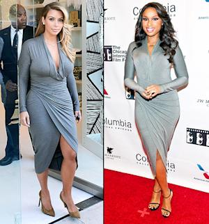 Kim Kardashian, Jennifer Hudson Wear Same Clingy Grey Dress: Who Wore It Better?