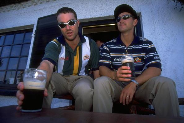 Michael Slater and Justin Langer