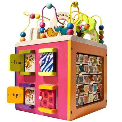 B. Toys Zany Zoo Wooden Activity Cube