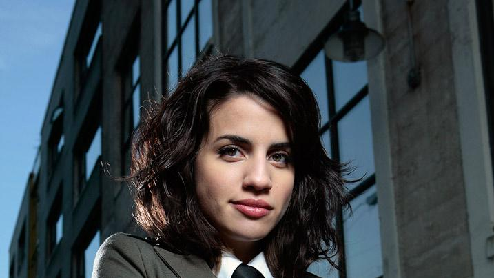 "Natalie Morales stars as ""Wendy"" on ""The Middleman""."
