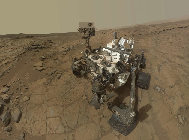 Handout NASA composite image shows a self-portrait of NASA's Mars Curiosity rover