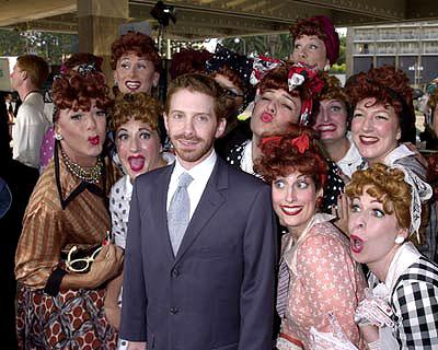 Seth Green with all those Lucys at the Century City premiere of Paramount's Rat Race