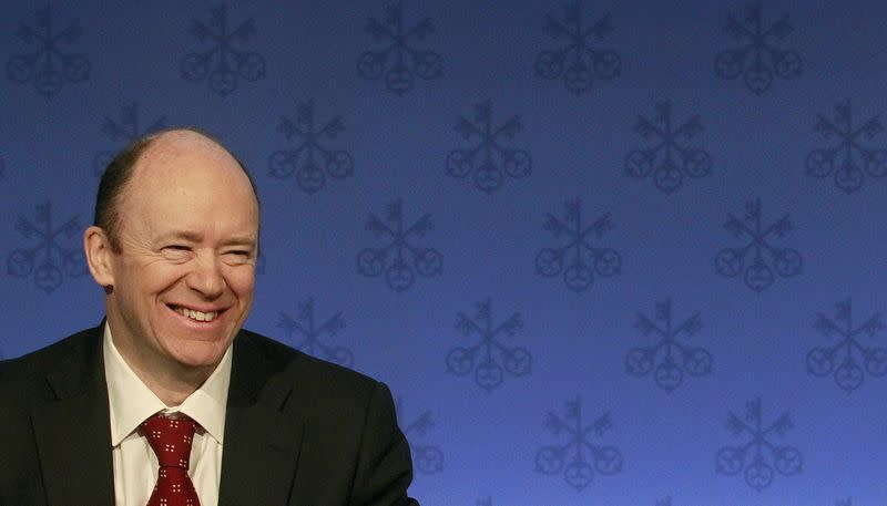 CFO of Swiss bank UBS Cryan addresses a news conference in Zurich