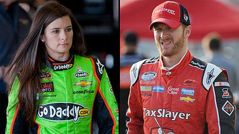 Danica Patrick and Dale Earnhardt Jr.