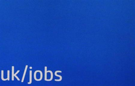 A backdrop is seen at a career fair in London