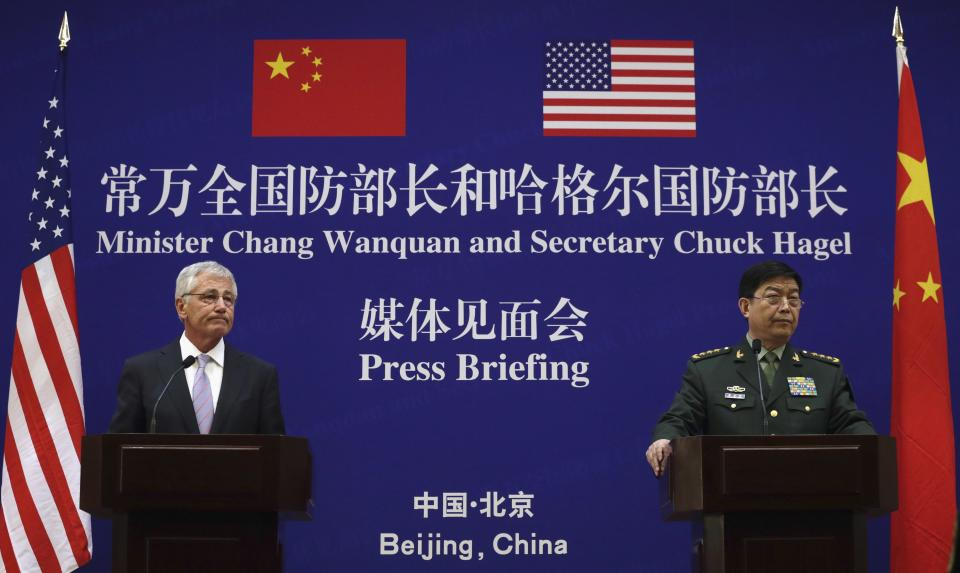 Chuck Hagel and Chang Wanquan