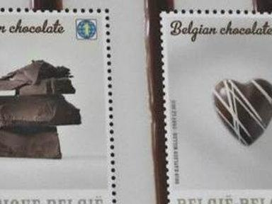 Chocolate-flavored Stamps Go On Sale in Belgium