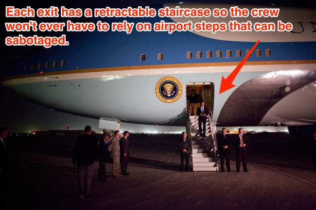 Steps Air Force One Skitch