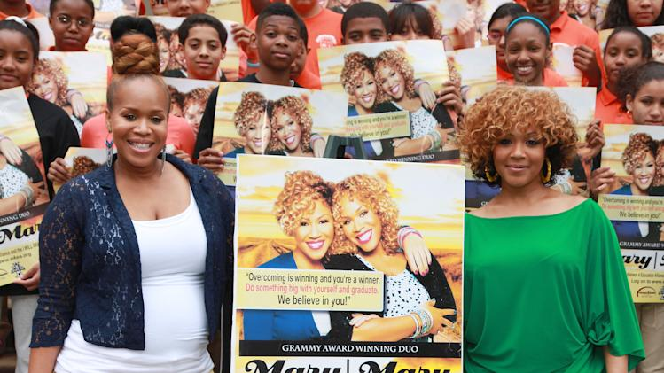 "Mary Mary Unveils Entertainers 4 Education Alliance ""I Will Graduate"" Poster"