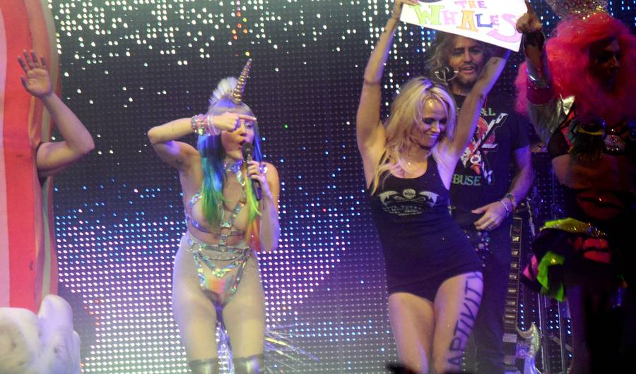 Miley Cyrus, Pamela Anderson Fight for Animal Rights at Last Milky Milky Milk Tour Concert
