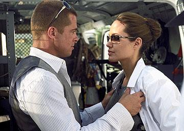 Brad Pitt and Angelina Jolie in 20th Century Fox's Mr. & Mrs. Smith