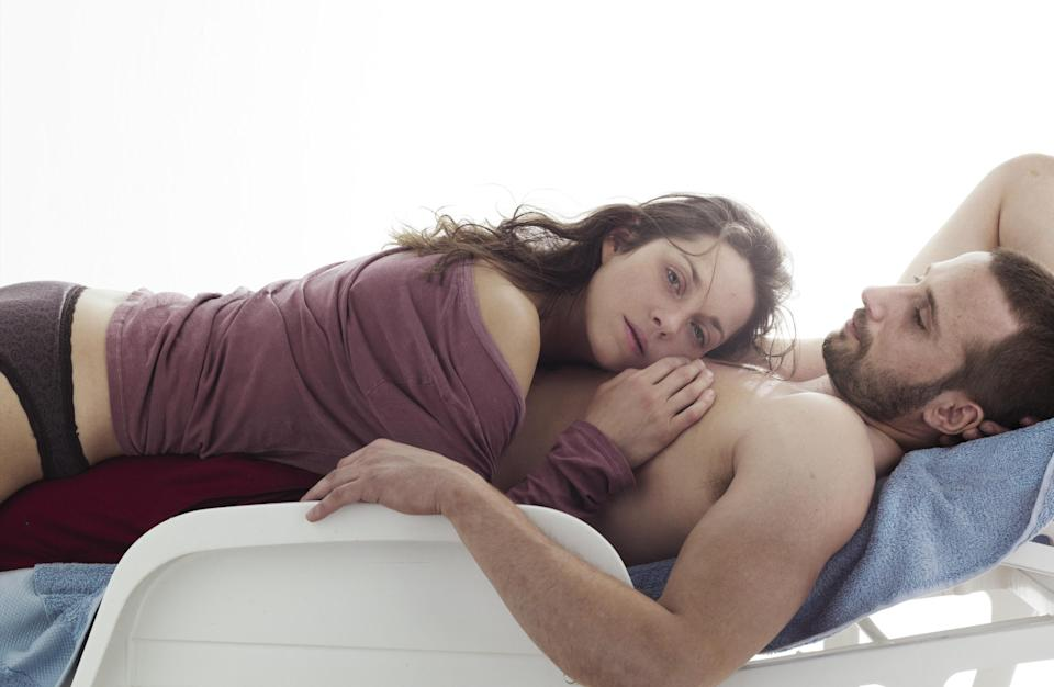 "This film image released by Sony Pictures Classics shows Marion Cotillard, left, and Matthias Schoenaerts  in a scene from ""Rust and Bone."" The film was nominated for a Golden Globe for best foreign film on Thursday, Dec. 13, 2012. (AP Photo/Sony Pictures Classics)"