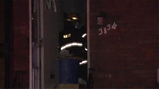 Crews battle flames inside North Philadelphia home