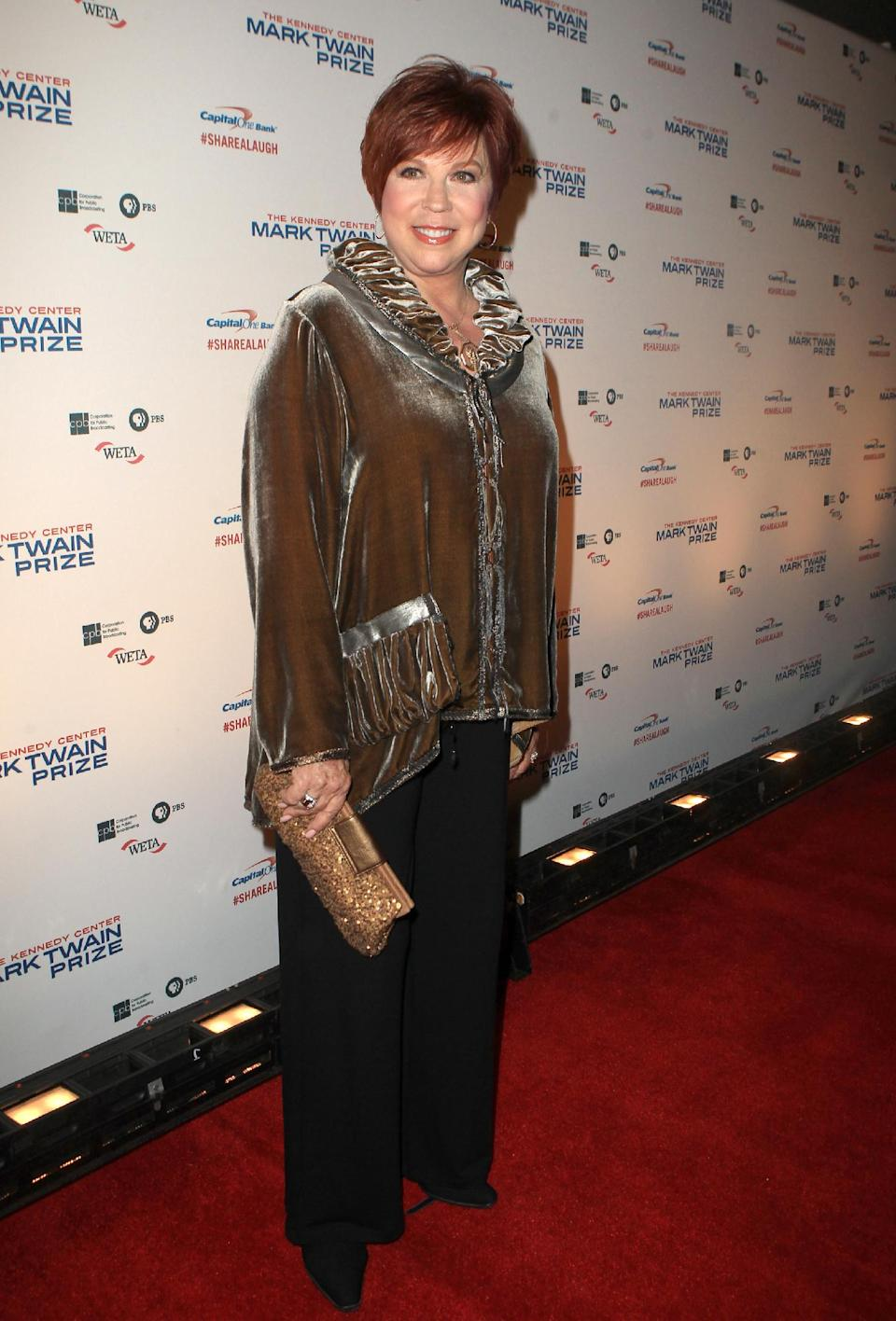 Vicki Lawrence arrives at 16th Annual Mark Twain Prize presented to Carol Burnett at the Kennedy Center on Sunday, Oct. 20, 2013 in Washington, D.C. (Photo by Owen Sweeney/Invision/AP)