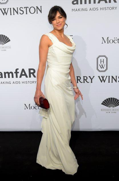 Michelle Rodriguez attends the 2015 amfAR New York Gala at Cipriani Wall Street on February 11, 2015 in New York City -- Getty Images