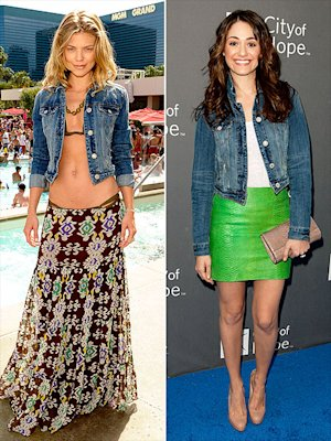 Anna Lynne McCord and Emmy Rossum rock their favorite  jean jackets