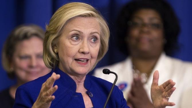 Democratic presidential candidate Clinton addresses the South Carolina House Democratic Women's Caucus in Columbia