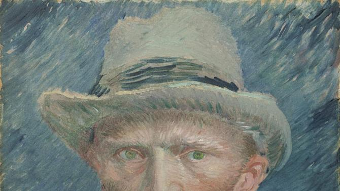 "This image provided by the Denver Art Museum shows Vincent van Gogh's ""Self Portrait with Grey Felt Hat."" The story of how one of the most popular postimpressionist painters developed his signature style is told in an exhibit that the Denver Art Museum assembled using more than 70 van Gogh works from dozens of museums and collections around the world. The exhibit also includes artists who influenced him and from fellow postimpressionists. (AP Photo/Denver Art Museum)"
