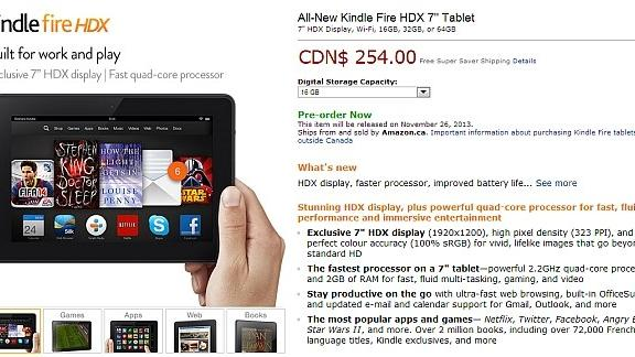 Canadian preorders open for Kindle Fire HD and Kindle Fire HDX, friendly digital line forms