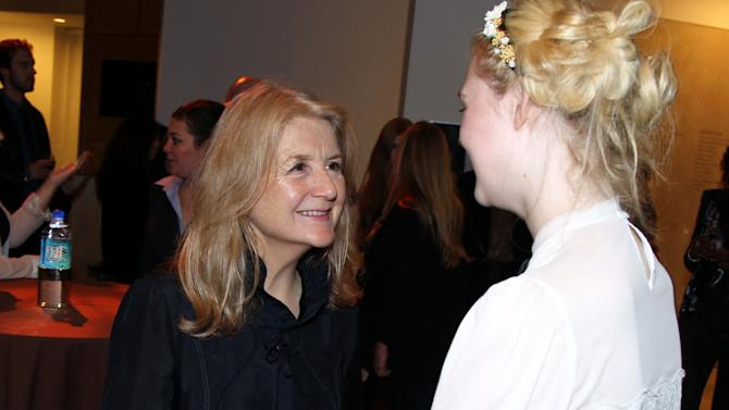 """Writer and director Sally Potter, left, and actress Elle Fanning attend the after party for a screening of """"Ginger and Rosa"""" hosted by FIJI Water on Thursday, Nov. 8, 2012 in Beverly Hills, Calif.  (Photo by Matt Sayles/Invision for Fiji Water/AP Images)"""