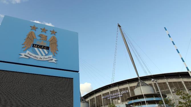 File picture shows a general view of The City of Manchester stadium, the home of Manchester City Football Club in Manchester, north-west England on September 10, 2011