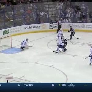 Jonathan Bernier Save on Cedric Paquette (03:26/2nd)