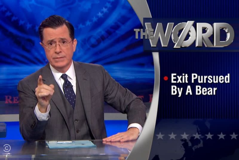 Watch Stephen Colbert and a chorus of celebrities sing goodbye to The Colbert Report