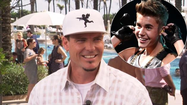Vanilla Ice stops by Access Hollywood Live on January 29, 2013 / inset: Justin Bieber  -- Access Hollywood