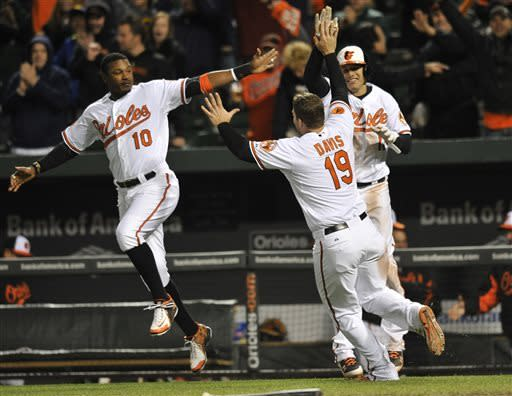 Markakis lifts Orioles over Blue Jays 2-1 in 9th