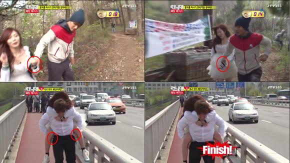 Kim Jong-gook shows 'well mannered hands' for Hyunah
