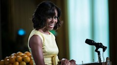 gty michelle obama kb 130815 16x9 608 Michelle Obama on Race, First Female President, Her Bangs