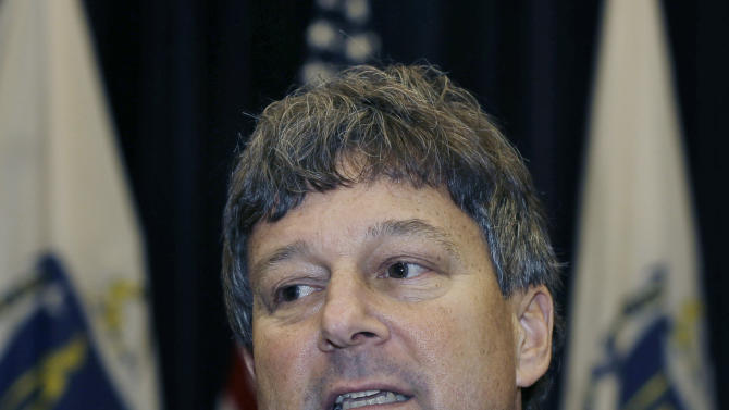 David Meier, an attorney appointed to lead a review of drug cases in the wake of a scandal at a Massachusetts State Police drug-testing lab, speaks to reporters in Boston, Friday Oct. 12, 2012, where he said many of the 34,000 defendants who could be affected have already served their time or otherwise had their cases resolved. Former state chemist Annie Dookhan is charged with obstruction of justice for allegedly failing to follow testing protocols and altering results at the now-closed lab. (AP Photo/Elise Amendola)