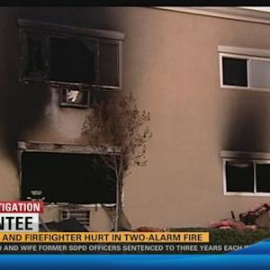 2 injured in two-alarm fire at Santee apartment complex