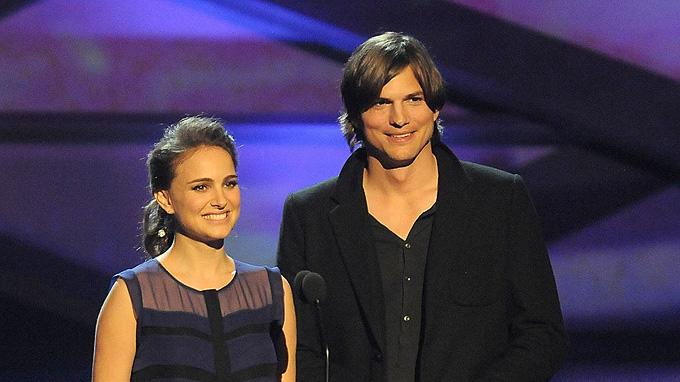 2011 People's Choice Awards Natalie Portman Ashton Kutcher