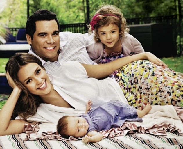 Jessica Alba and her family (husband Cash Warren, and daughters Honor and Haven) in a file photo from a shoot by photographer Justin Coit in 2011. (Photo: jessicaalba.net)