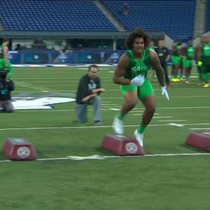 Mike Mayock analyzes University of Southern California defensive end Leonard Williams combine drills
