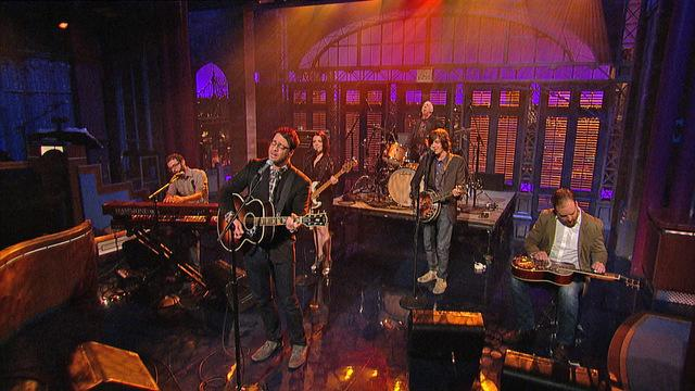 "David Letterman - Amos Lee: ""Chill In the Air"""