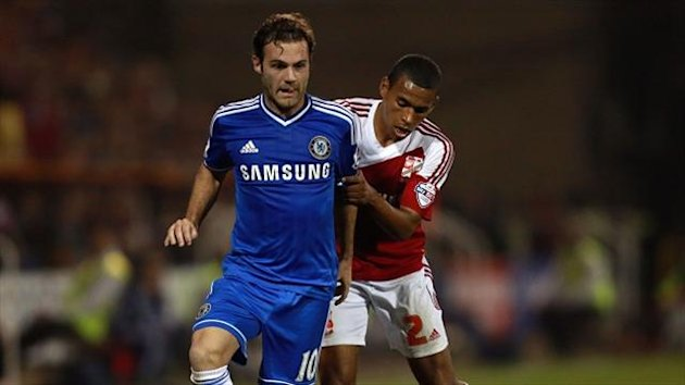 Juan Mata impressed the Chelsea coaching staff at Swindon