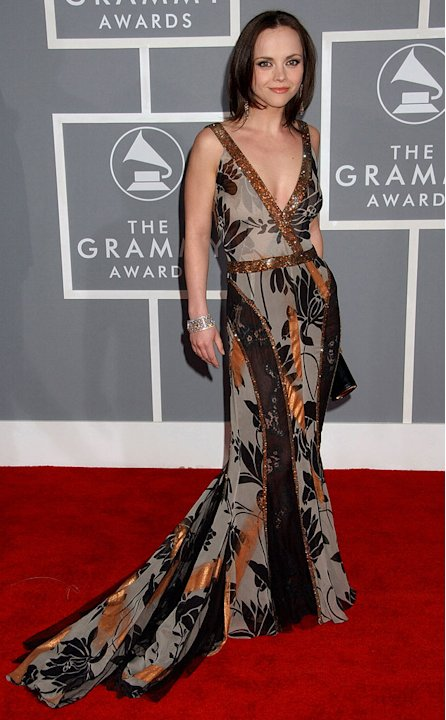 Christina Ricci at The 49th Annual Grammy Awards.